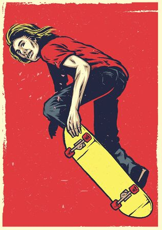hombre montando patineta