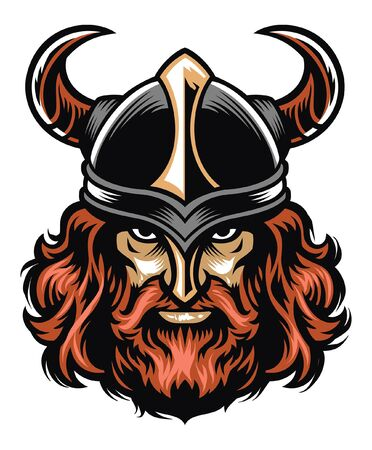 tough viking warrior head