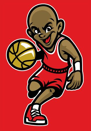 cartoon of basketball mascot