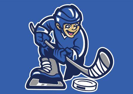 cartoon of ice hockey mascot design Vectores