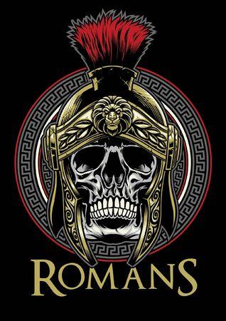 skull roman warrior