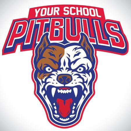 mascotte van pitbullhond