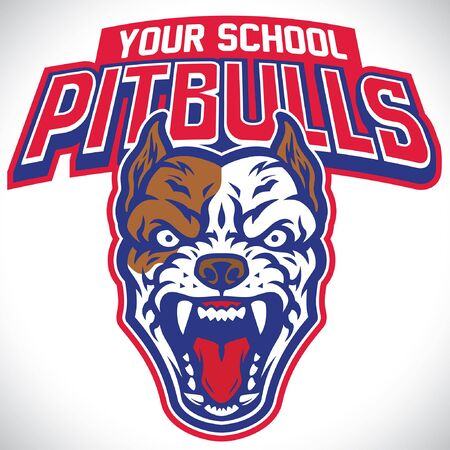 mascot of pitbull dog