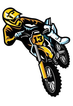 motorcross stunt springen