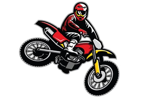 man jumping on motocross