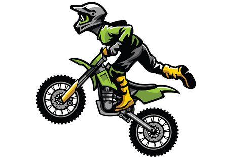 jumping motocross Illustration