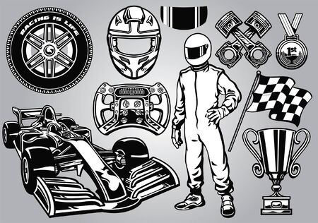 set of formula car set concept