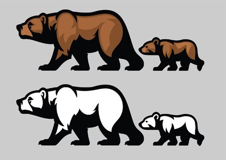 bear and the cub Illustration