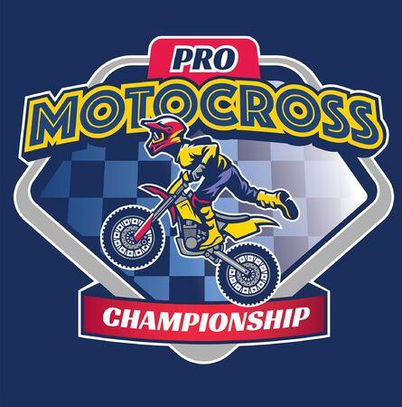 motocross t-shirt design Illusztráció
