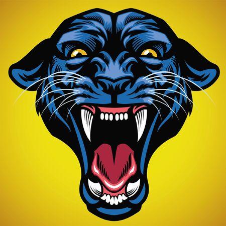 roaring mascot of black panther