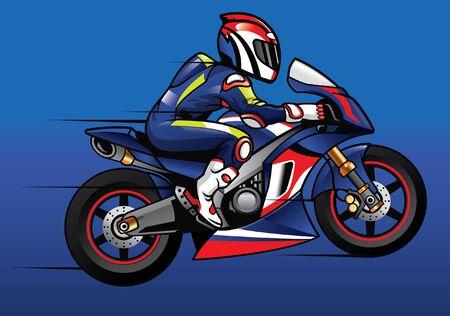 motorbike racer ride the bike fast