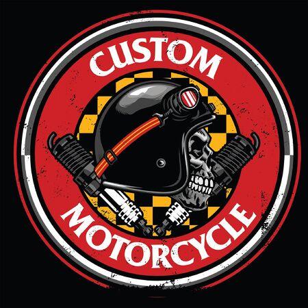 t-shirt design with skull motorcycle rider