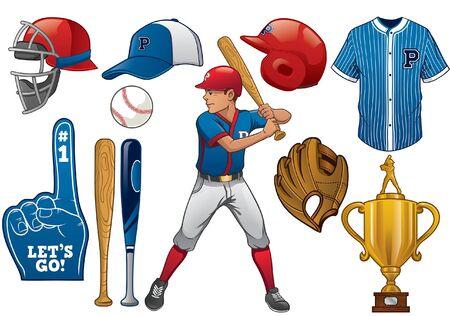 baseball object collection set