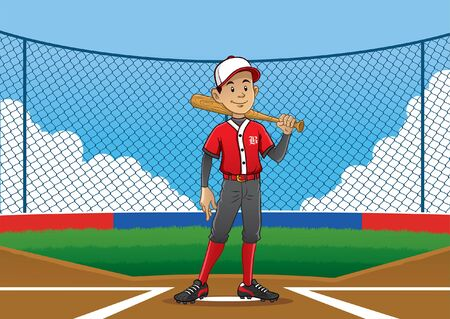 baseball player on the pitch Illustration