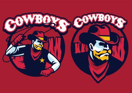 cowboy set mascot