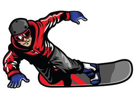snowboarder player in action