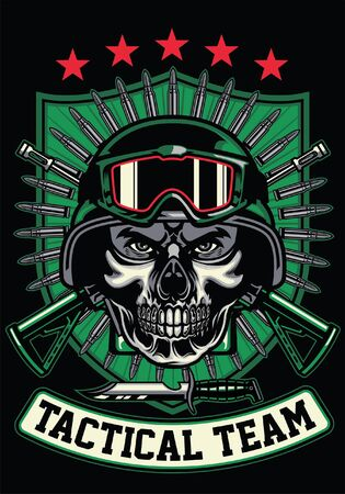 t-shirt design of military