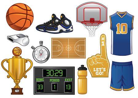 set of basketball object
