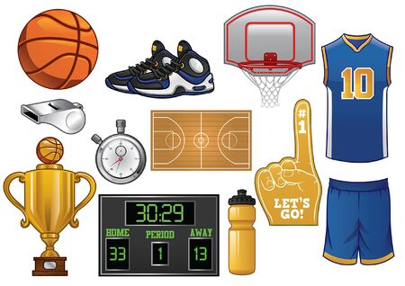 set of basketball object
