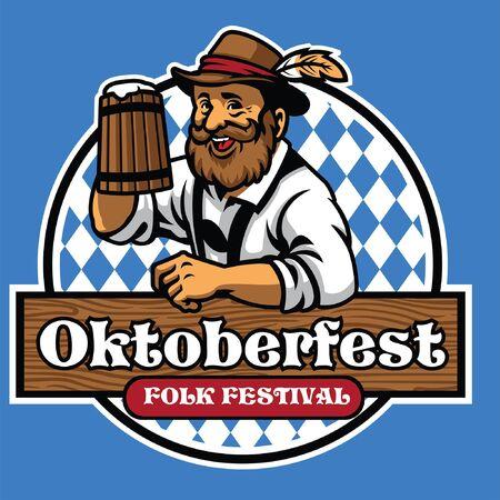 happy old man of oktoberfest