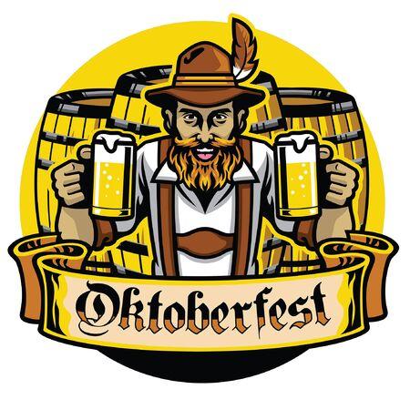 german man celebrating oktoberfest