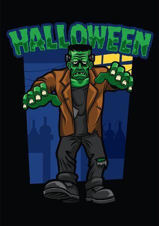 personnage frankenstein d'halloween