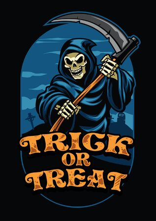 grim reaper design of halloween holiday Illustration