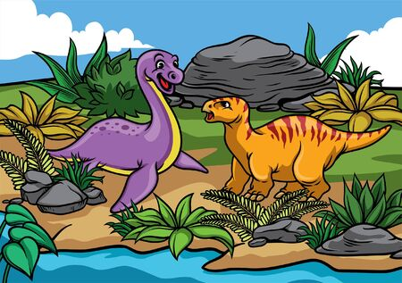 dinosaures dans la nature