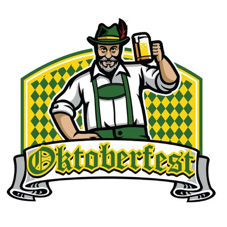 man hold the beer celebrating oktoberfest