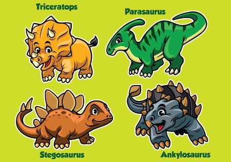 set of dinosaurs cub collection