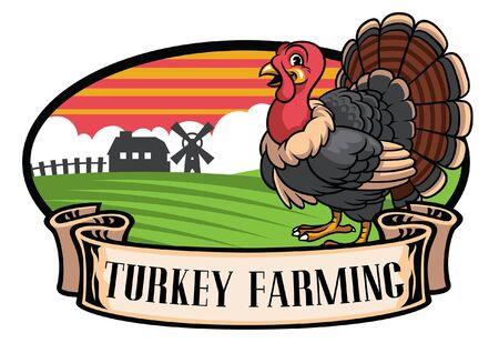 turkey farming design label