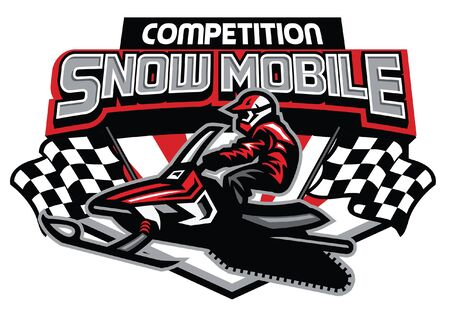 concept d'insigne de compétition de motoneige