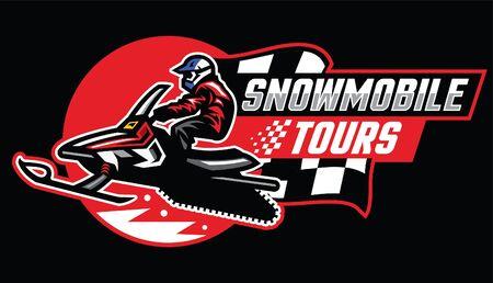 snowmobile design race Иллюстрация