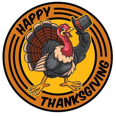 happy turkey greeting thanksgiving
