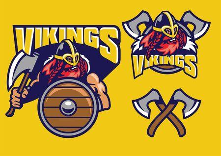 kolekcja zestawu wojowników wikingów