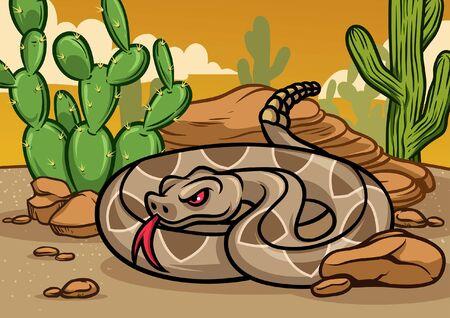 serpente a sonagli nel deserto