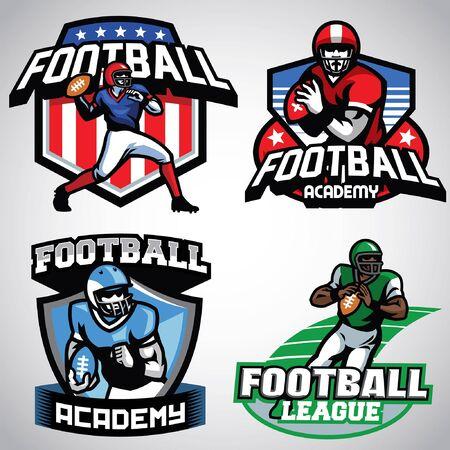 american football badge set Illustration
