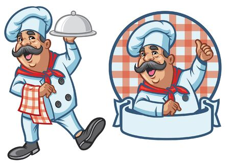 set of chef character mascot