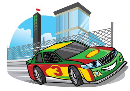 cartoon nascar racing car the the circuit