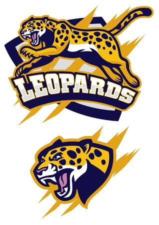 leopard set of mascot