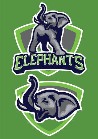conjunto de mascota de elefante