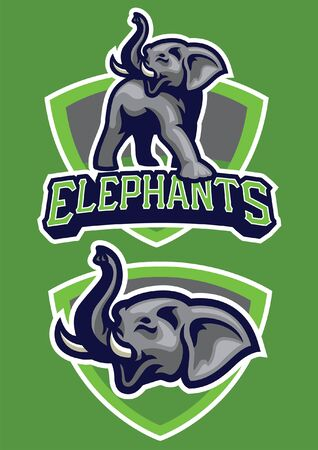 elephant mascot set