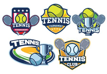 set bundle of tennis badge collection