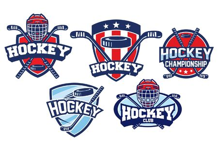 set bundle of ice hockey badge