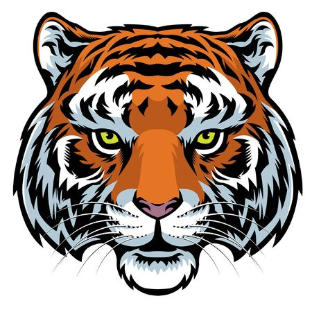vector of tiger head Stock Illustratie