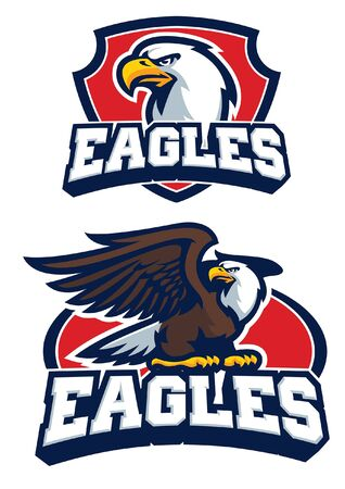 set mascot of eagle