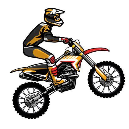 man riding motocross doing stunt