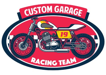 t-shirt custom garage design 向量圖像