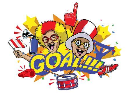goal soccer football design celebration