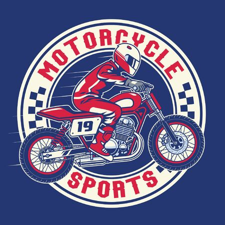 t-shirt design of motorcycle racing sport